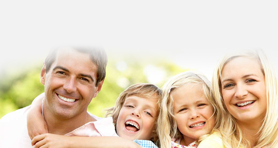 Happy family with healthy smiles